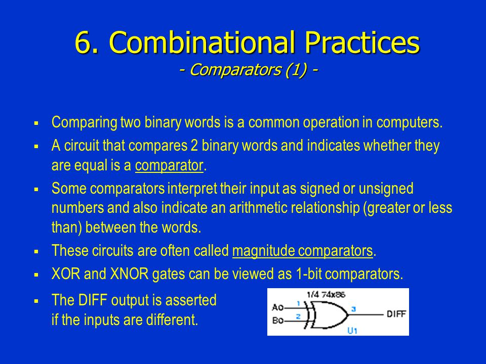 6. Combinational Practices - Comparators (1) -