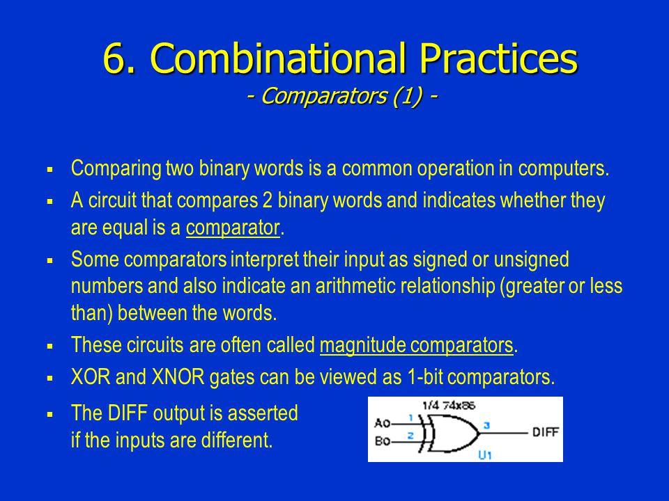 6. Combinational Practices - Comparators (1) -