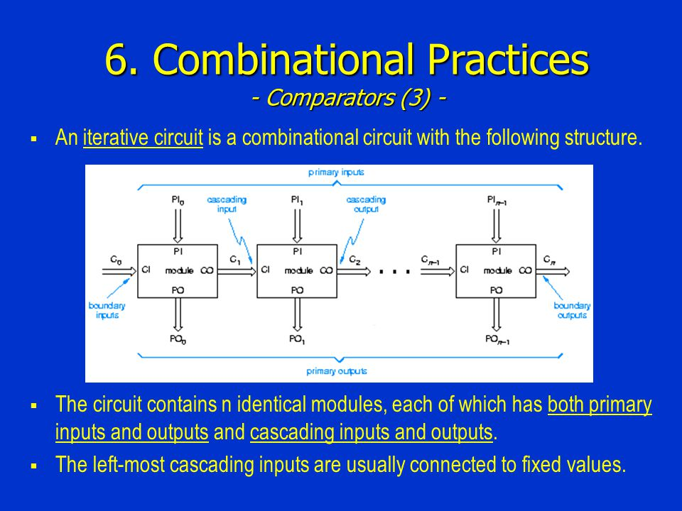 6. Combinational Practices - Comparators (3) -