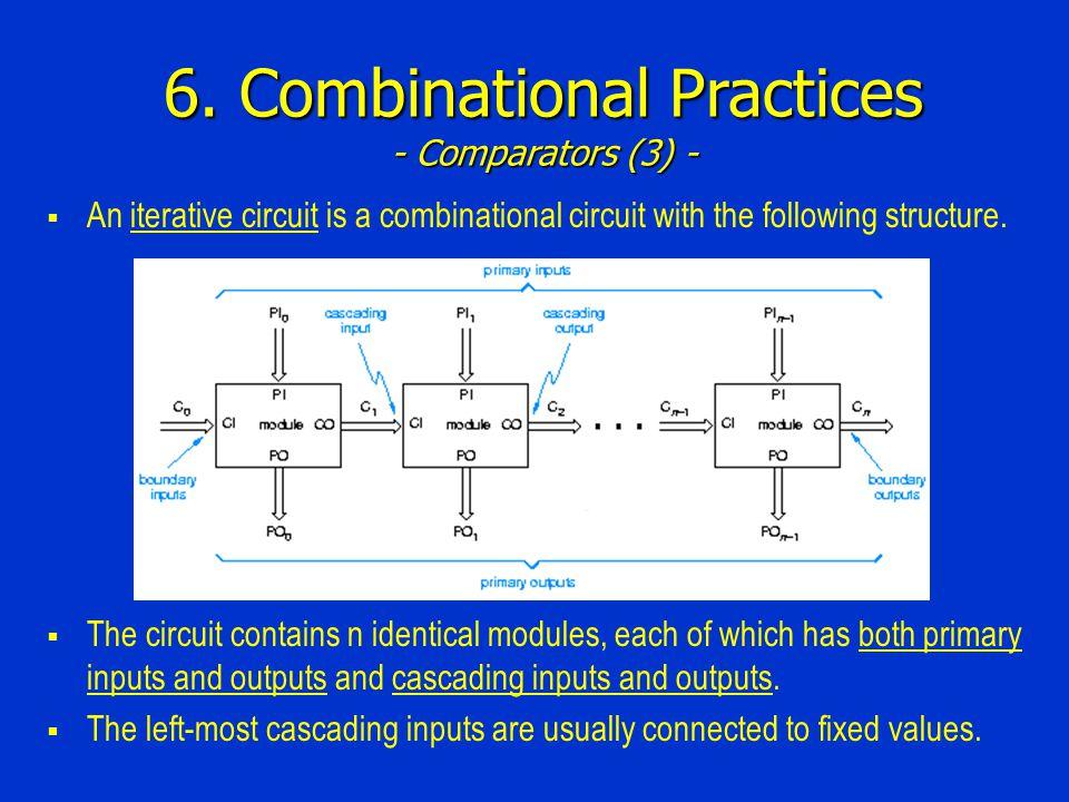 6. Combinational Practices - Comparators (3) -