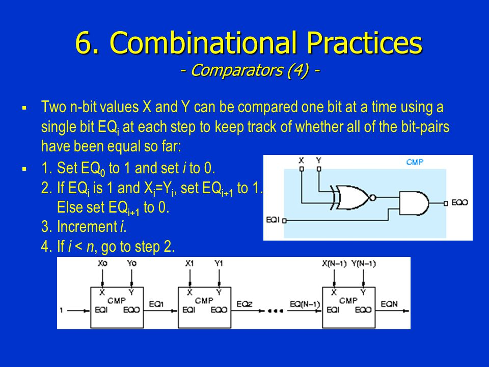 6. Combinational Practices - Comparators (4) -