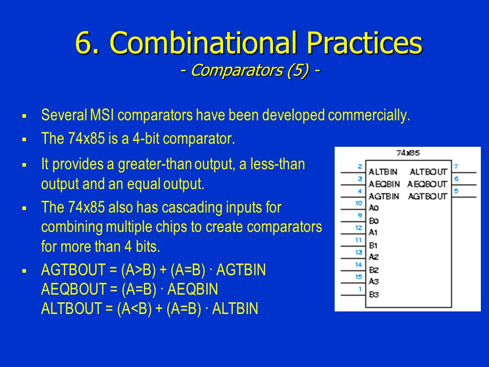 6. Combinational Practices - Comparators (5) -