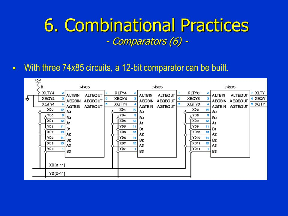 6. Combinational Practices - Comparators (6) -