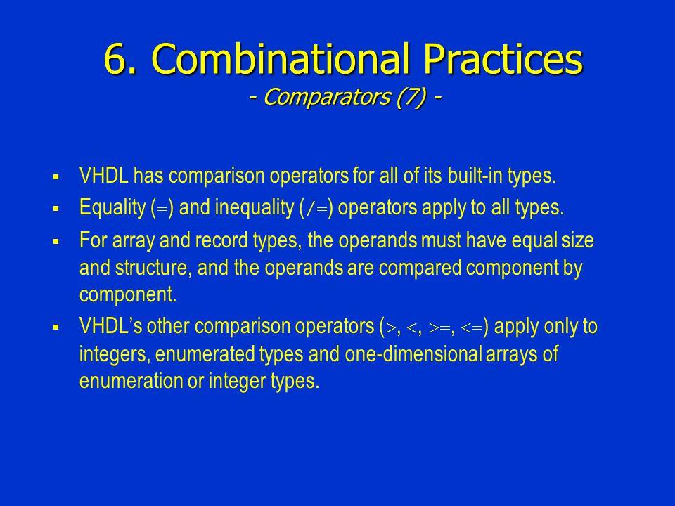 6. Combinational Practices - Comparators (7) -