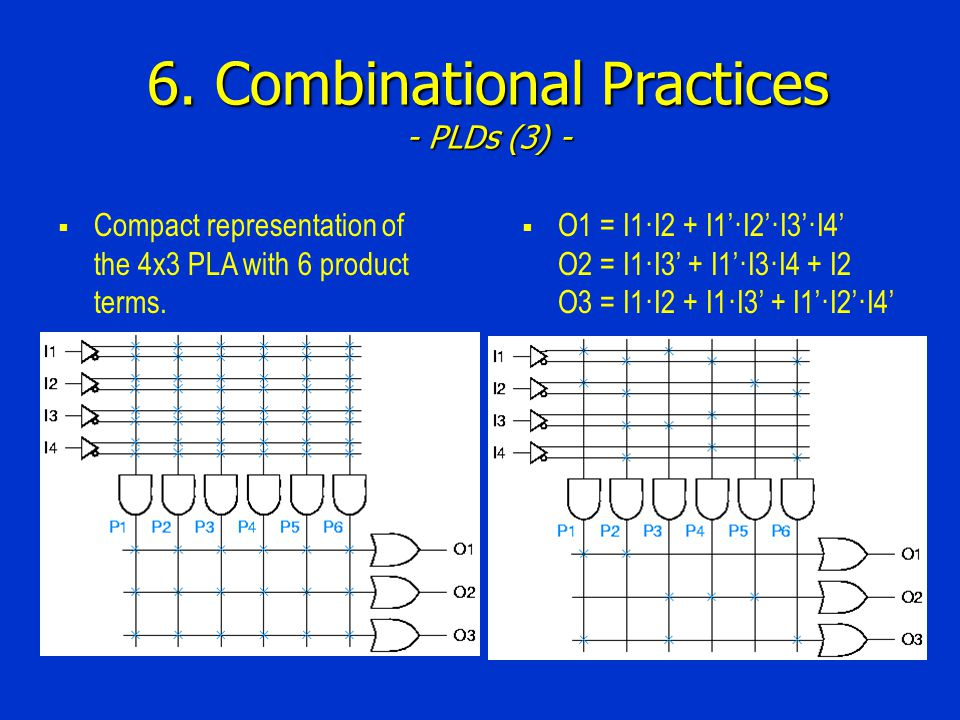 6. Combinational Practices - PLDs (3) -