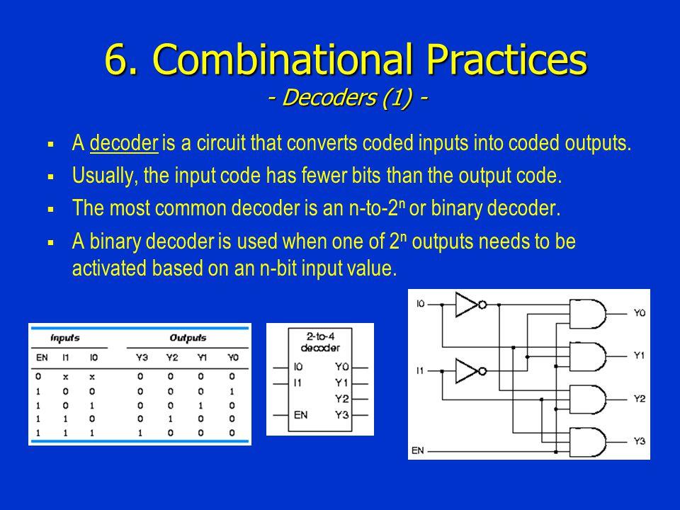 6. Combinational Practices - Decoders (1) -