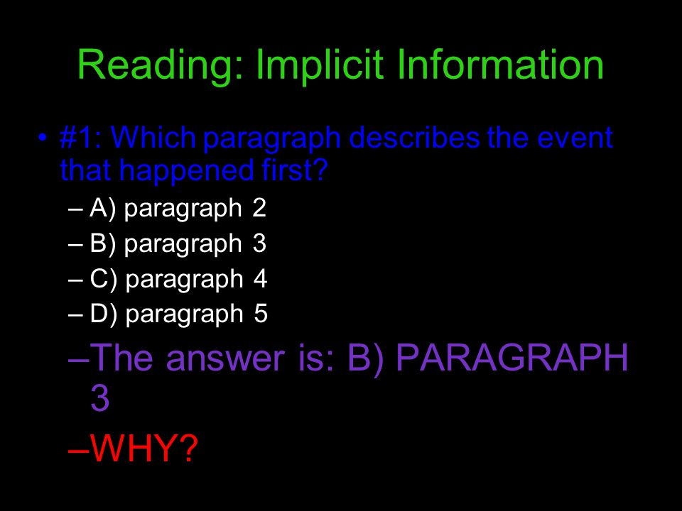 Reading: Implicit Information
