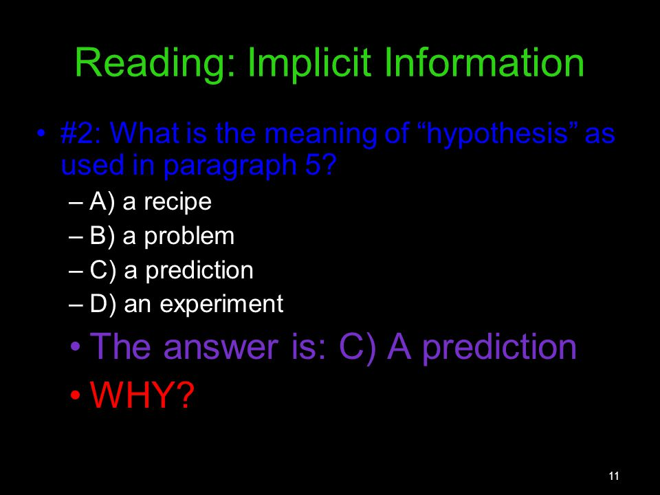 Reading: Implicit Information