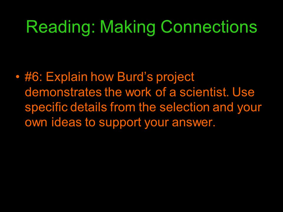 Reading: Making Connections