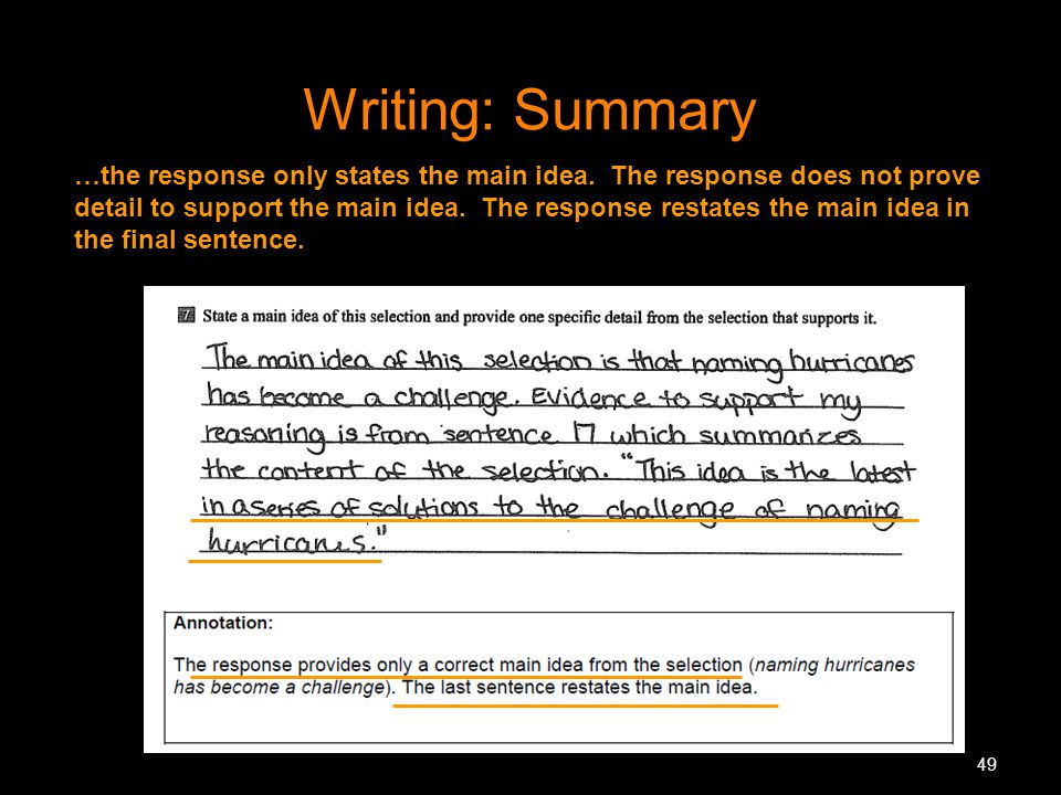 Writing: Summary
