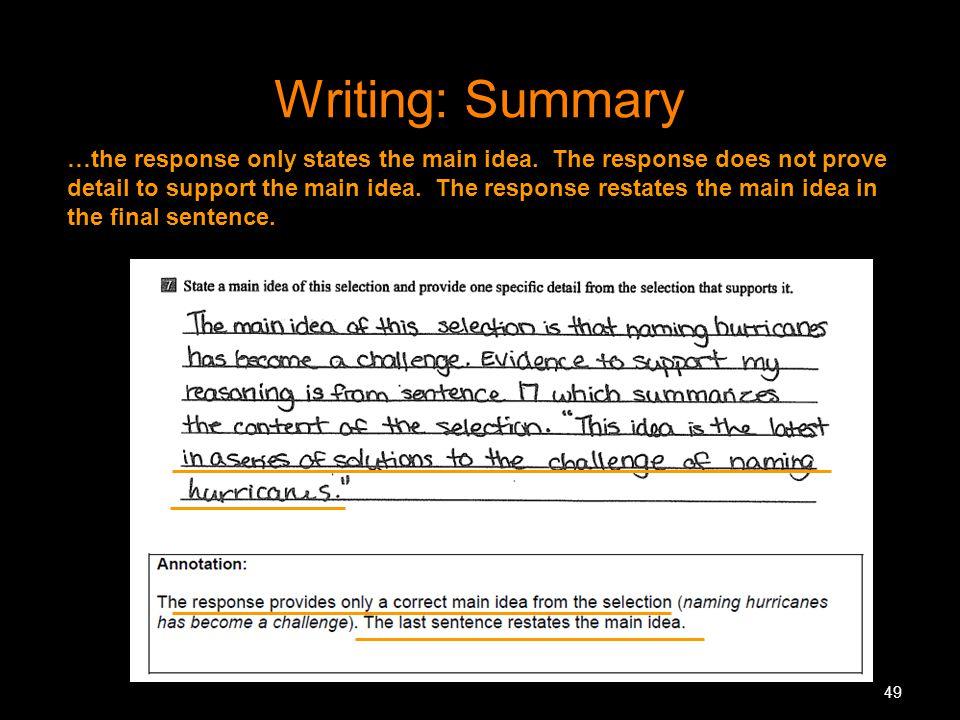 Writing: Summary