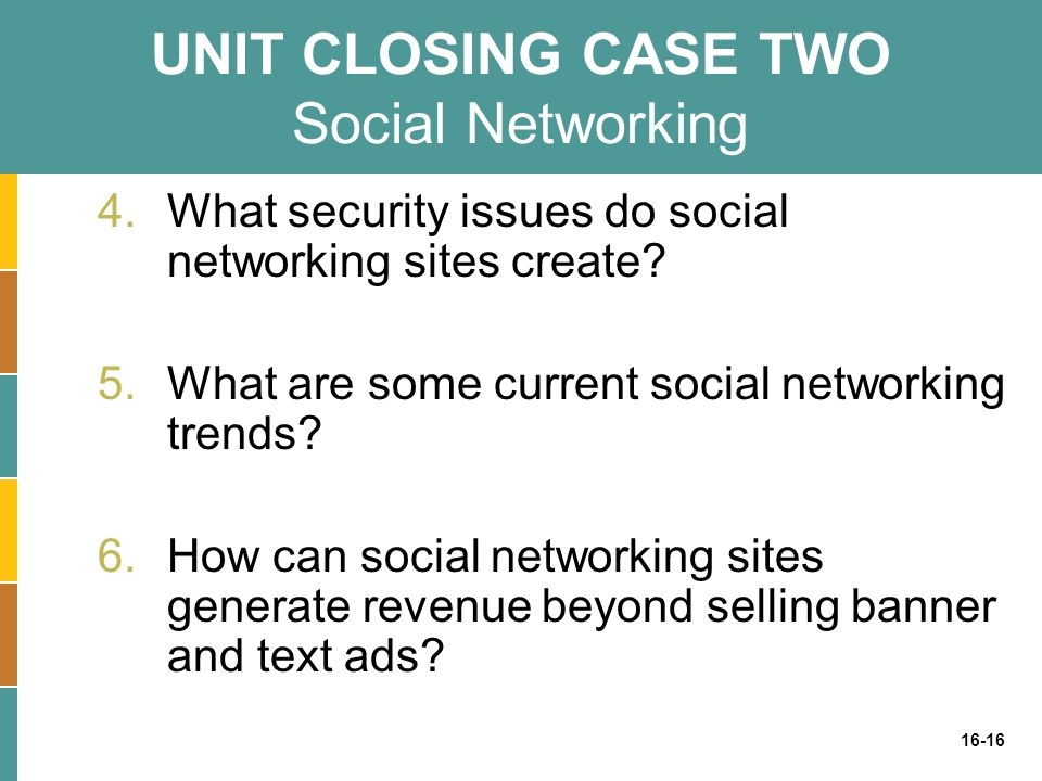 UNIT CLOSING CASE TWO Social Networking