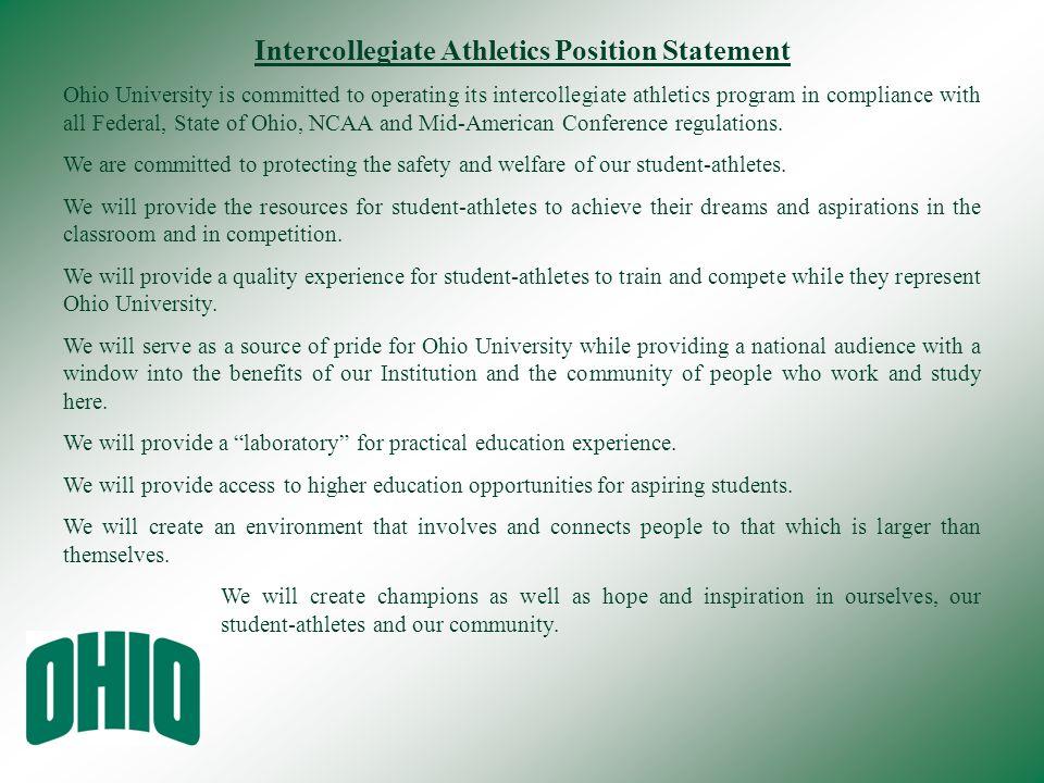 Intercollegiate Athletics Position Statement