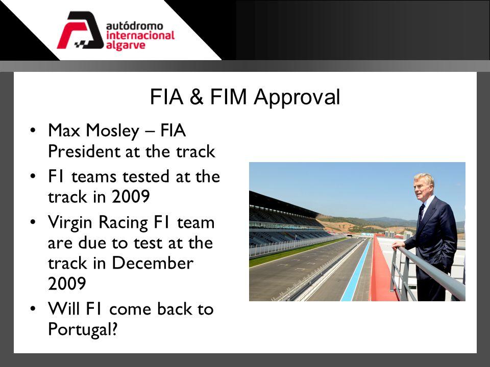 FIA & FIM Approval Max Mosley – FIA President at the track