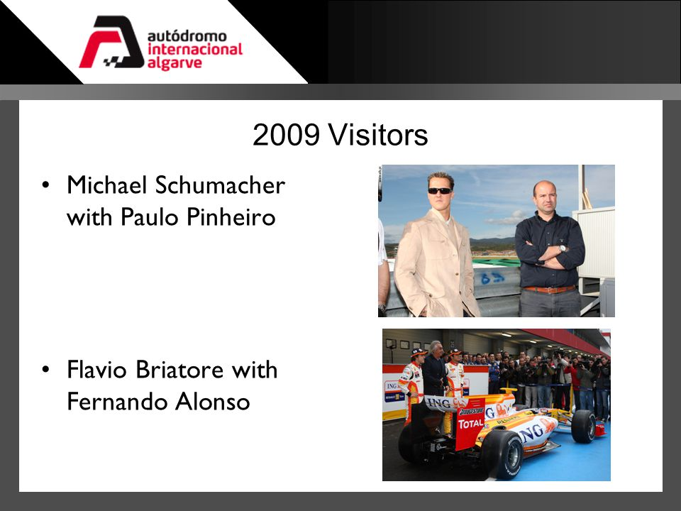 2009 Visitors Michael Schumacher with Paulo Pinheiro