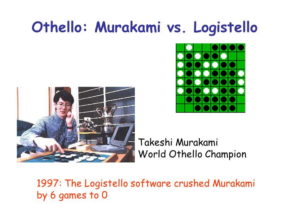Othello: Murakami vs. Logistello
