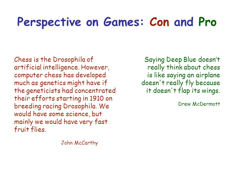 Perspective on Games: Con and Pro
