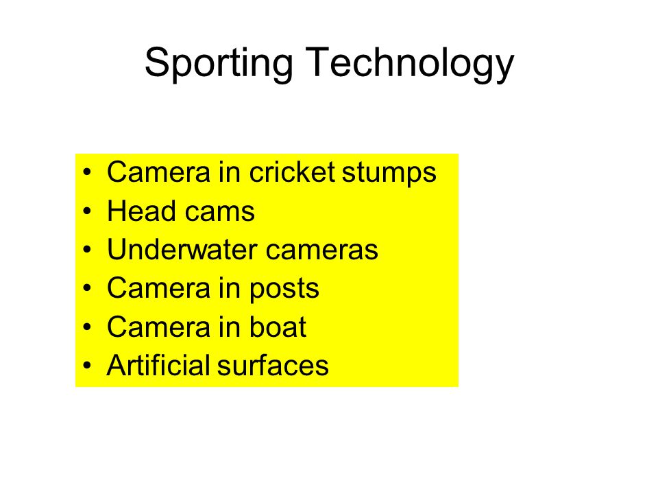 Sporting Technology Camera in cricket stumps Head cams