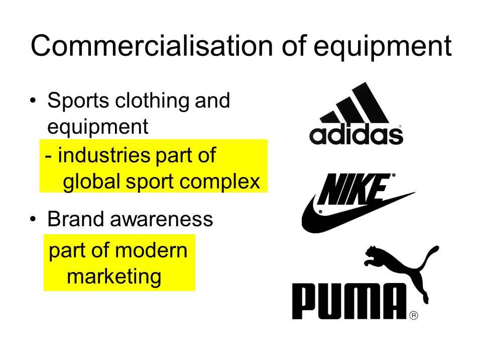 Commercialisation of equipment