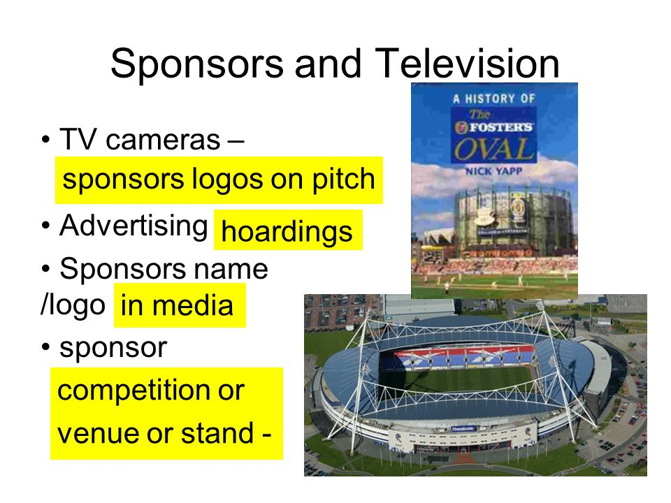 Sponsors and Television