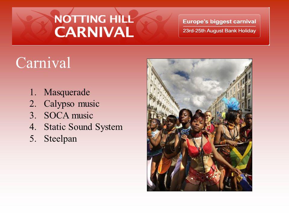 Carnival Masquerade Calypso music SOCA music Static Sound System