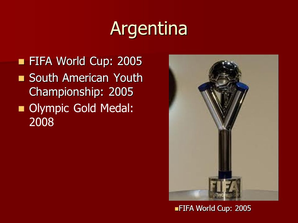 Argentina FIFA World Cup: 2005 South American Youth Championship: 2005