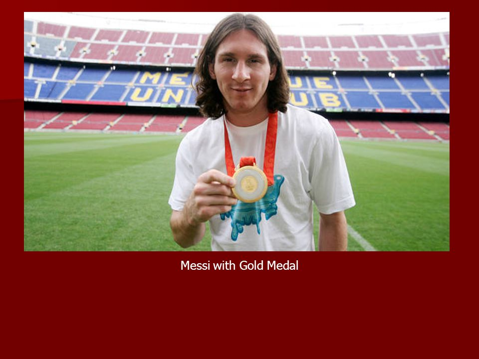Messi with Gold Medal