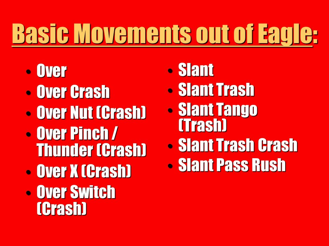 Basic Movements out of Eagle: