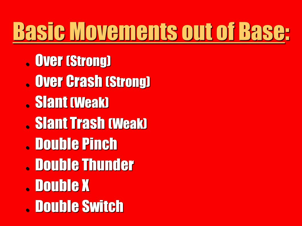 Basic Movements out of Base: