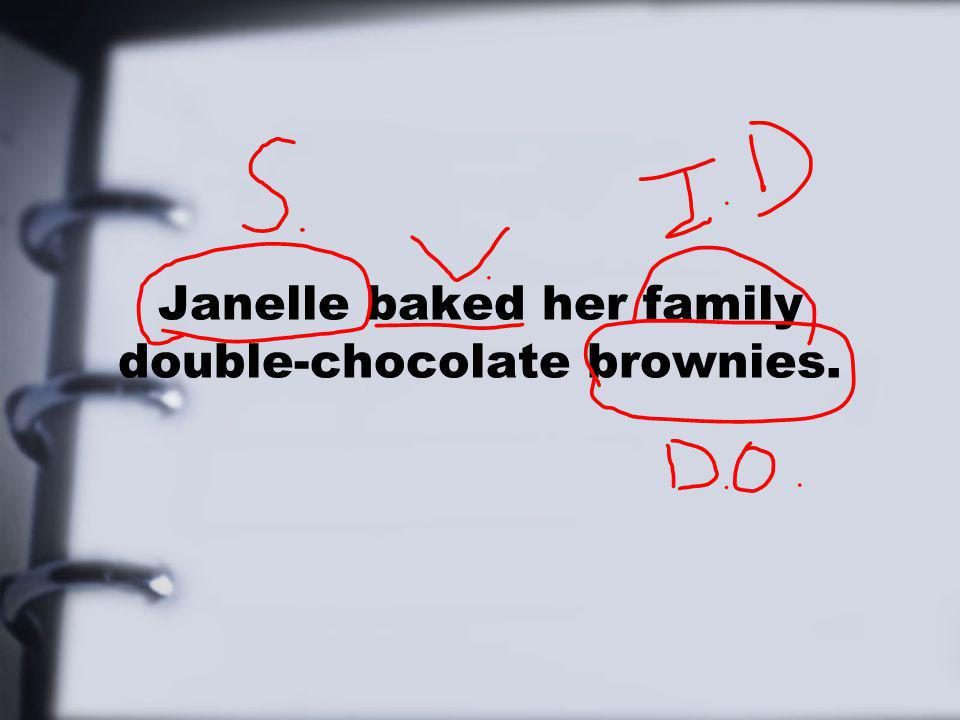 Janelle baked her family double-chocolate brownies.