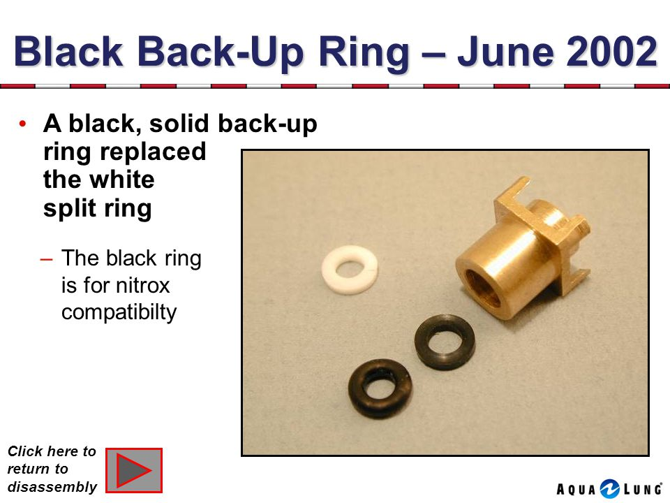 Black Back-Up Ring – June 2002