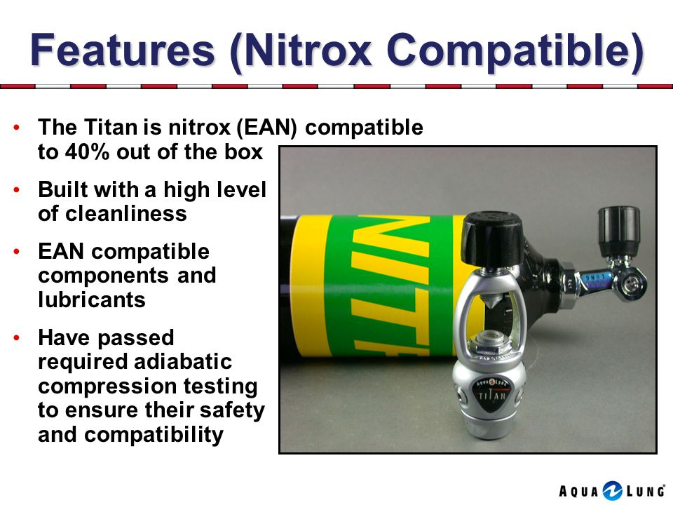 Features (Nitrox Compatible)