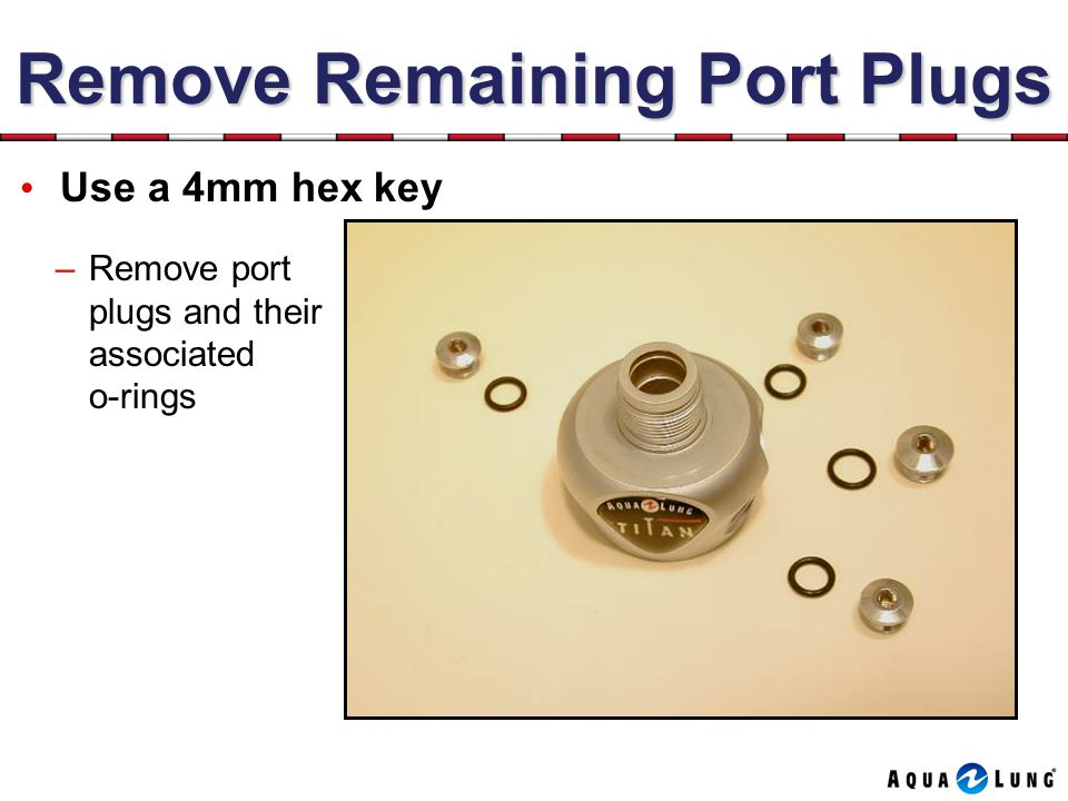 Remove Remaining Port Plugs