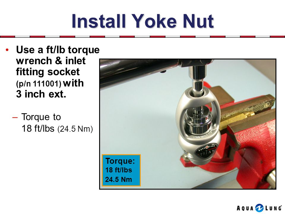 Install Yoke Nut