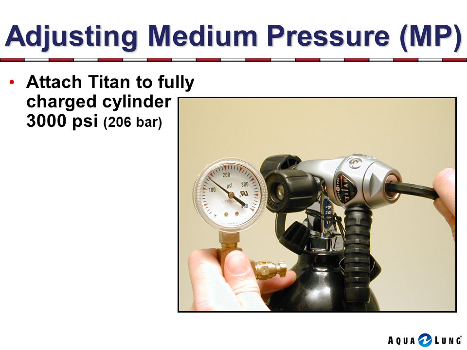 Adjusting Medium Pressure (MP)