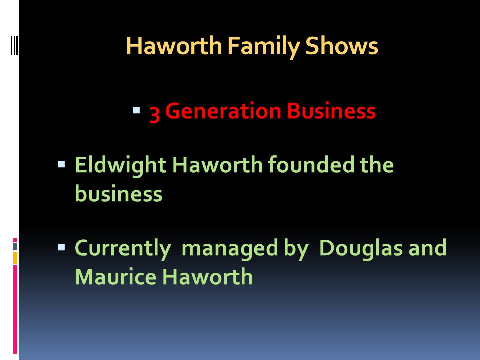Haworth Family Shows 3 Generation Business