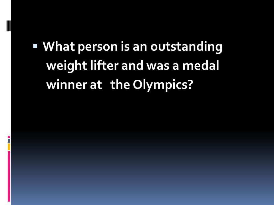 What person is an outstanding