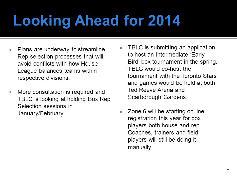 Looking Ahead for 2014