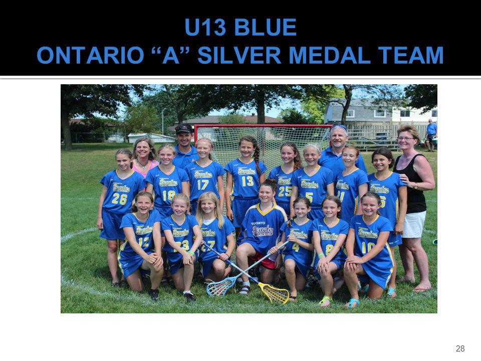 U13 BLUE ONTARIO A SILVER MEDAL TEAM