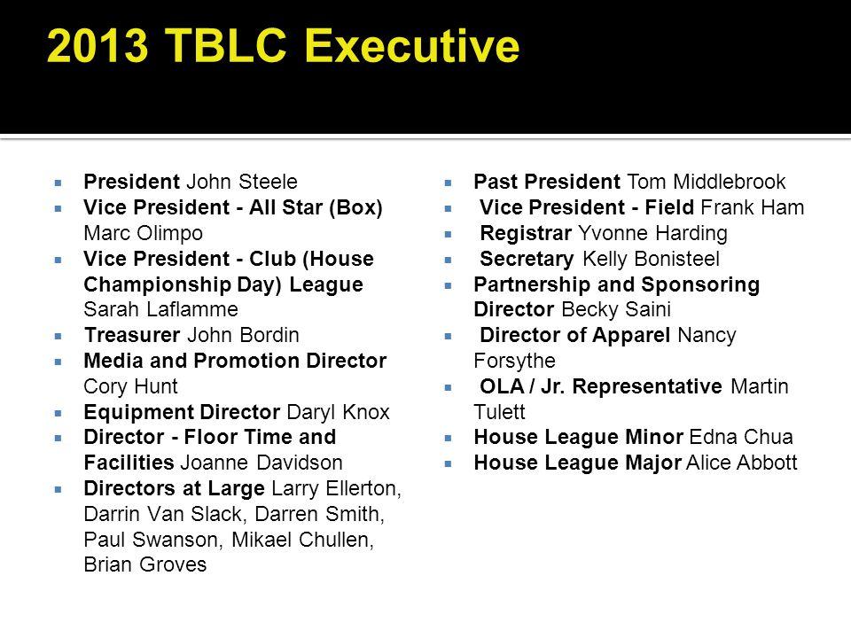 2013 TBLC Executive President John Steele