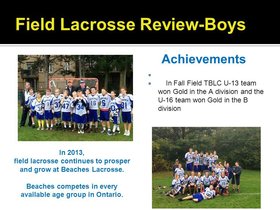 Field Lacrosse Review-Boys