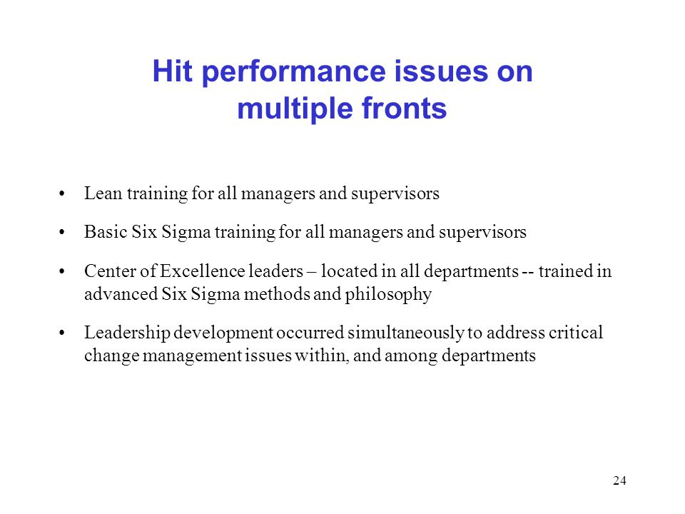 Hit performance issues on multiple fronts