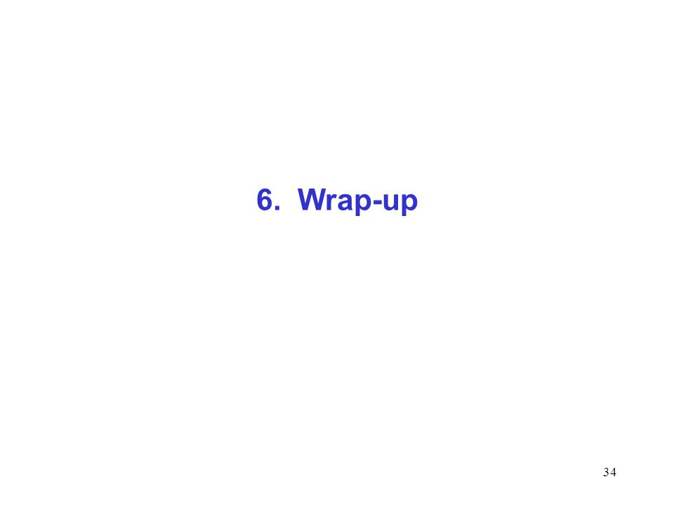 6. Wrap-up