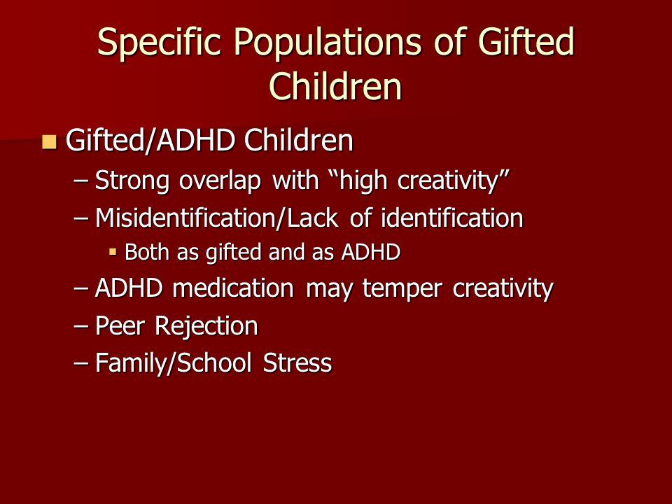 Specific Populations of Gifted Children