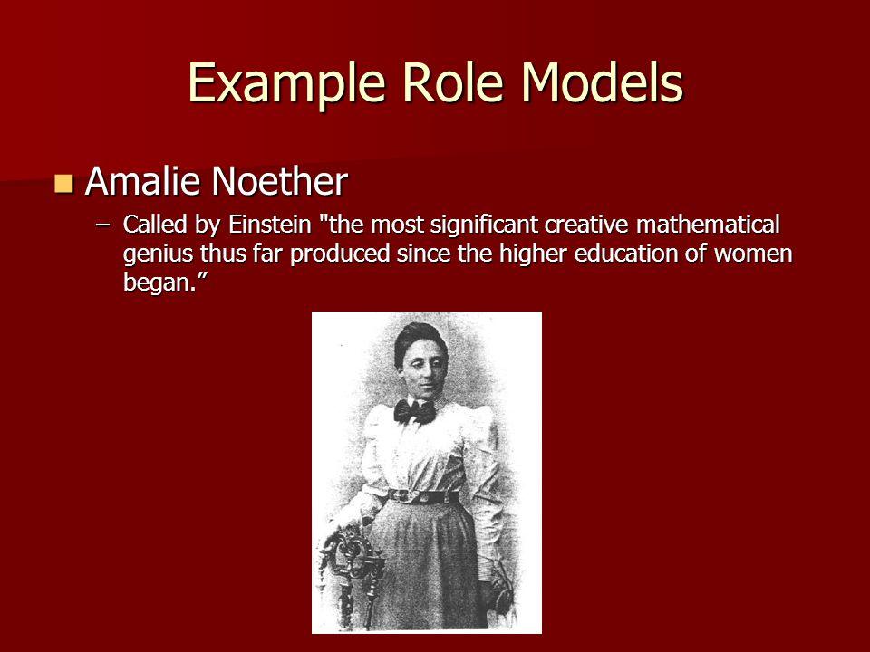 Example Role Models Amalie Noether