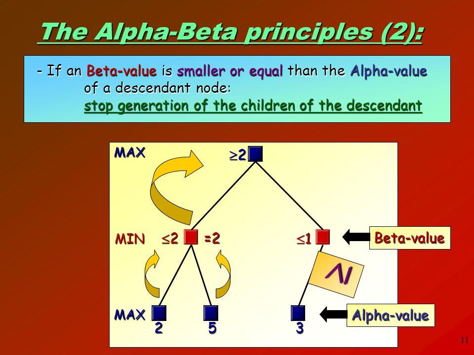 The Alpha-Beta principles (2):