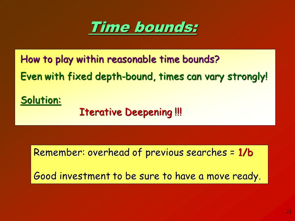 Time bounds: How to play within reasonable time bounds