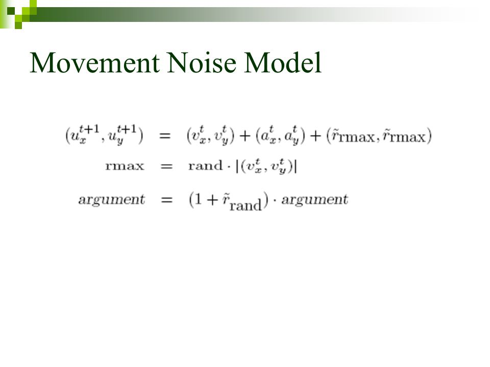 Movement Noise Model