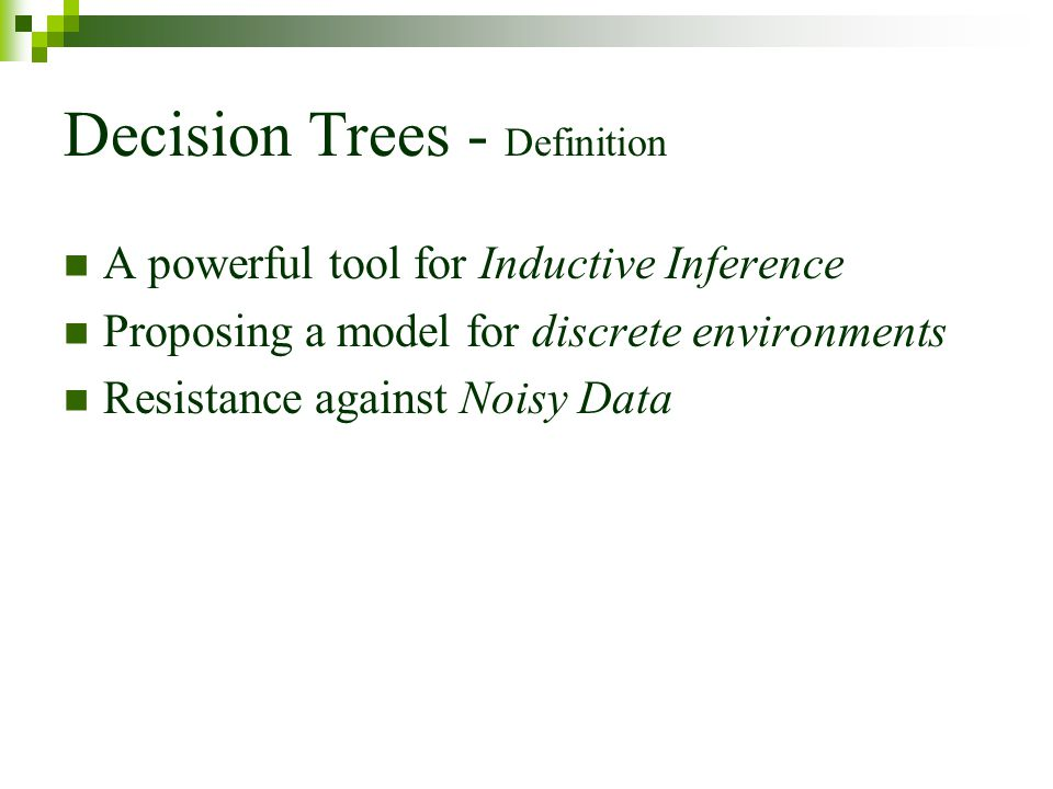Decision Trees - Definition