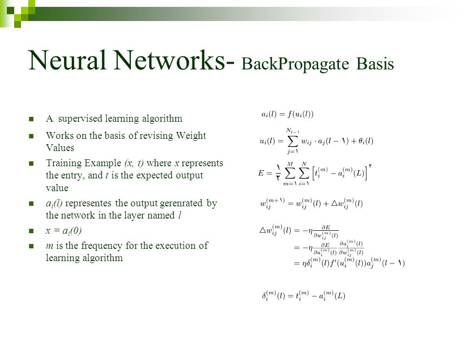 Neural Networks- BackPropagate Basis